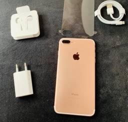 IPhone 7 Plus 32g Rose NOVO 1 ano de Garantia Apple