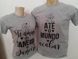Lindas camisas para casais R$50,00 o (par)