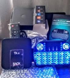 KIT Tv Box Tx9 4k (+) mini teclado luminoso