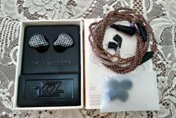 Fone KZ ZST + Adaptador duplo Tipo C