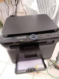 Impressora laser samsung colorida clx-3175n multifuncional usb e rede rj45