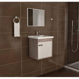 Conjunto armário para banheiro capella com pia DFX516
