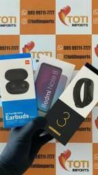 Promoção! Kit Xiaomi: Redmi Note 8 64Gb Preto + Mi Band 3 + Earsbuds