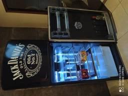 Geladeira decorada Jack Daniel's