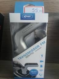 Transmissor FM com bluetooth