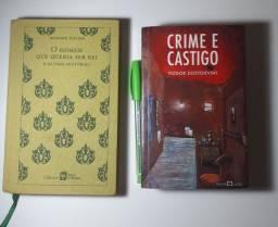 Kit: Crime e Castigo + O Homem que Queria ser Rei - usados