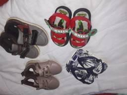 Vendo um combo de sapato e sandalia
