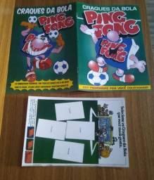 Álbum de Figurinhas Vazio Ping Pong Craques da Bola - Brasileirão 1983