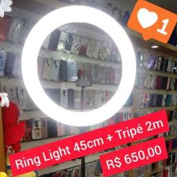 Ring Light de 45cm + tripé de 2m