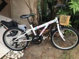 Bicicleta Caloi Ceci Juvenil - Aro 20 - 7 Marchas - Branco