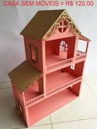 Semana Black Friday - Lindas casas de boneca c/ 80 cm de altura