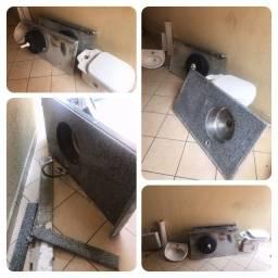 Kit banheiro + Duas Pias