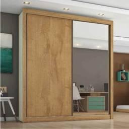Título do anúncio: Guarda-Roupa Europa com Espelho 2 Portas Larg. 1.70 m 100% MDF