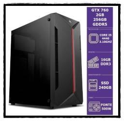 Gamer Cpu / I5 4440 Up 3.30Ghz / 16Gb De Memoria / Ssd 480Gb / Placa De Video Gtx 760 2Gb