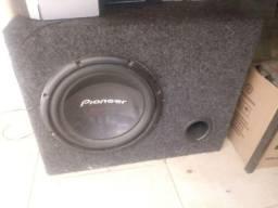 Auto falante Pionner 12 sub woofer caixa