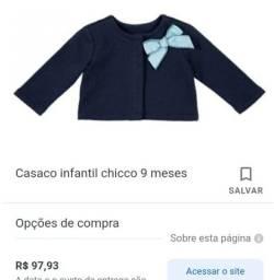 Casaco menina azul marinho 12 meses chicco