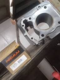 Kit cilindro novo, nunca usado titan 150 ,3mm valor 350 reias  aceito cartão