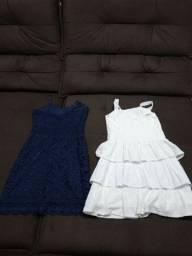 Vendo lote feminino, três vestidos tamanho P, uma calça capri número 36. Leia.