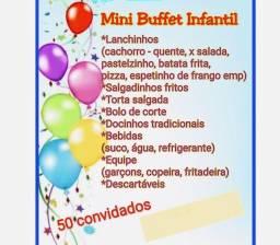 BUFFET INFANTIL 50 CONVIDADOS 1.300,00