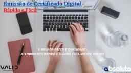 Emissão de Certificado Digital 100% Online - Melhor preço e Qualidade - Oportunidade