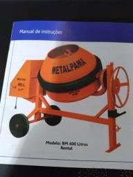 Betoneira 400 L com motor, Metalpama