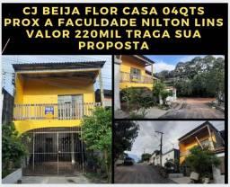 Beija Flor Casa 04qts/03suite entrada 150mil