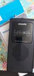 Rádio Philips Ae-1500 Portátil A Pilha Entrada Fone Am / Fm