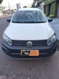 Título do anúncio: VENDO UMA LINDA VW NOVA SAVEIRO CD ROBUST 1.6 COMPLETA 50MIL KM 2018 / 2019