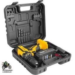 Parafusadeira/Furadeira a bateria, 12 V, carregador bivolt automático, Pfv012QR Vonder