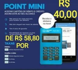 Maquininha Point Mini Azul - Mercado Pago (18 Unidades)