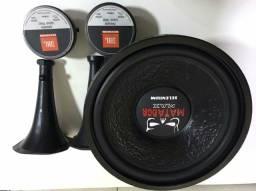 """Subwoofer Matador Max JBL Selenium 15"""" Pols. 800Wrms + 2 Cornetas D250 TRIO JBL 200Wrms"""