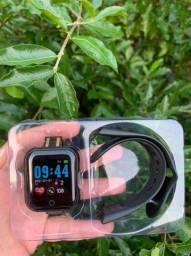 Relógio Smart Fitness Foto Na Tela - Para Retirada - 3 Cores Disponíveis