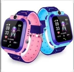 Relógio smart Rastreador Gps Infantil Localizador Alarme Sos Idoso