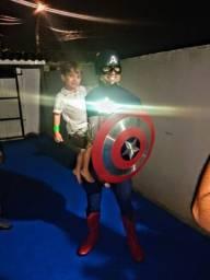 Personagem vivo Capitão América