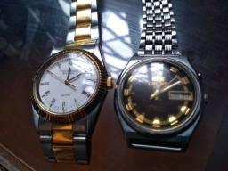 Relógio Orient 21 Jewels e Technos Riviera