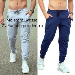 Calça Moletom Masculina / Moletom Grosso Jogger