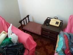 Fofoqueira ou mesinha de telefone, madeira maciça antiga