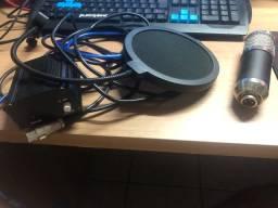 Microfone profissional MB800+ compressor de ruído
