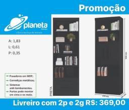 Livreiro estante 2P e 2 Gavetas Promoção