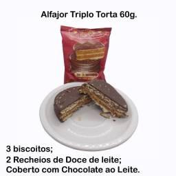 Alfajor Triplo Torta Chocolate ao Leite 60g