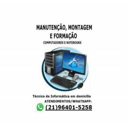Manutenção de computadores e notebooks e formatação