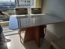 Título do anúncio: Mesa 4 completa pronta entrega resistente cadeiras de madeira maciça