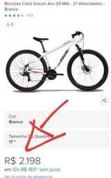 Bicicleta Caloi 29 na caixa