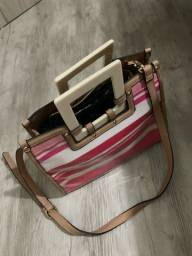 Bolsa rosa de listra