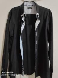camisa preta manga longa vitorelli 46