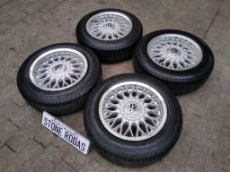 """Rodas BBS aro 14"""" 4x100 com pneus"""