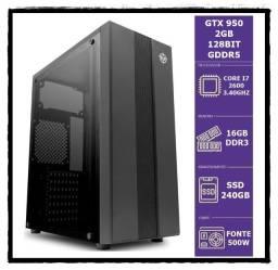Gtx 950 2Gb Gddr5/ I7 2600 Up 3.80Ghz/ 16Gb De Memoria/ Ssd M.s Nvme 256Gb/ W10 Pro