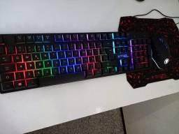 Combo Teclado e Mouse Gamer Bright Led + Mouse Pad