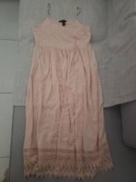 Título do anúncio: Vestido midi rosa bebê forever 21