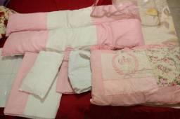 Bolsa maternidade e kit berço